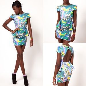 FAIRGROUND Multicolor Cha Cha Ching Dress-Small
